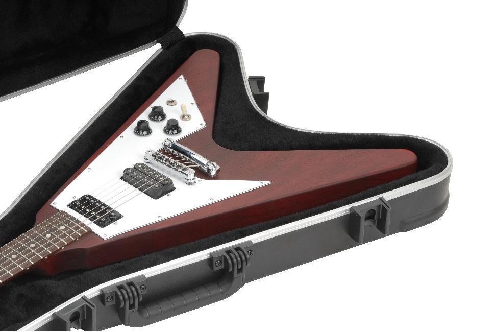 skb flying v hardshell guitar flight case tool cases direct. Black Bedroom Furniture Sets. Home Design Ideas